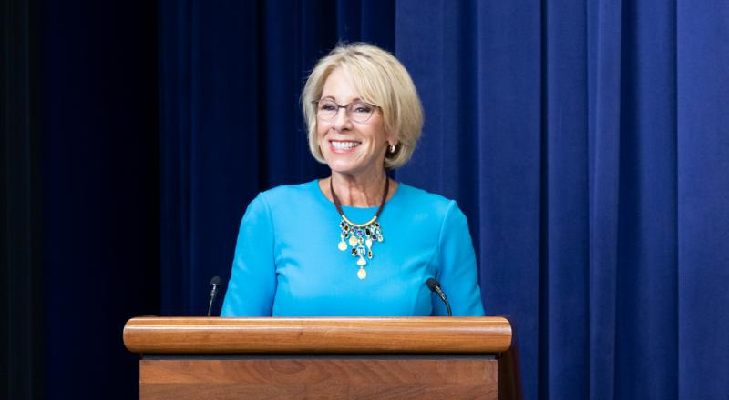 Redemption, not retreat: Betsy DeVos' vision for redeeming U.S. education