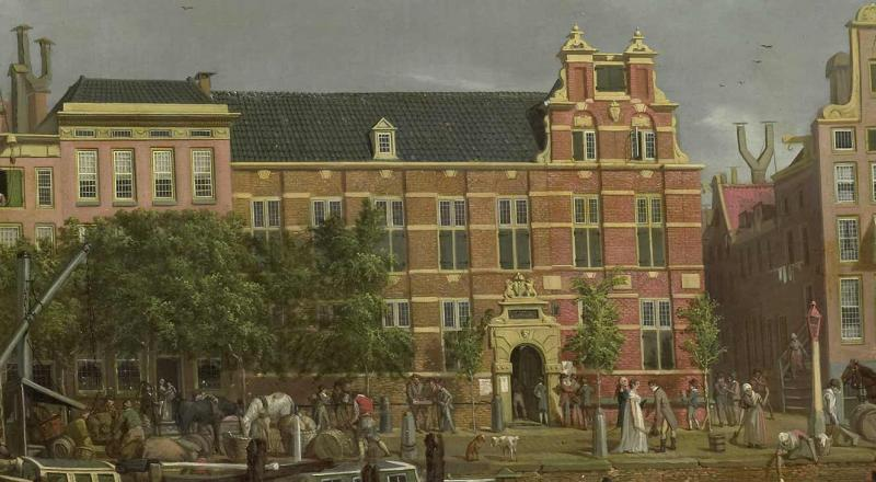 The Latin school on the Singel, Amsterdam. 1802, oil on canvas.