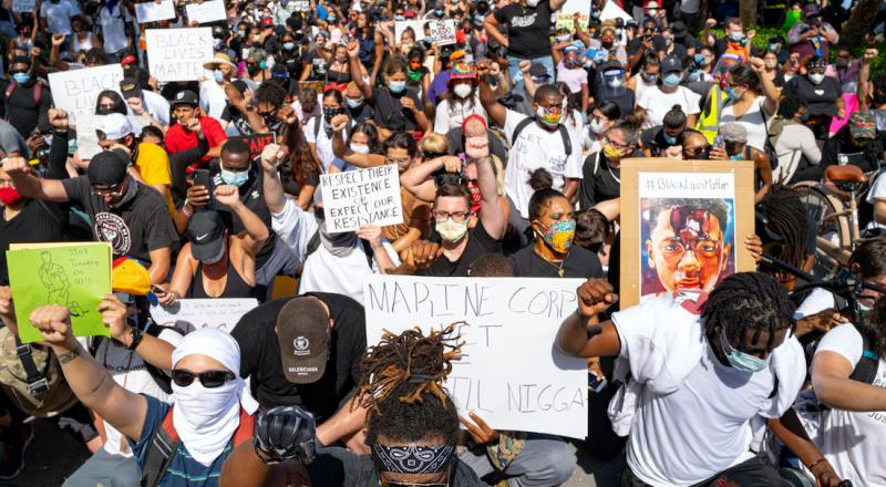 A Black Lives Matter protest in Miami on May 31, 2020.