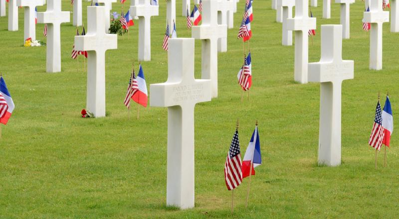 The American cemetery at Normandy.