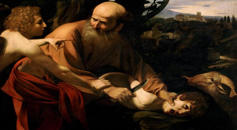 The sacrifice of Isaac, by Caarvaggio.